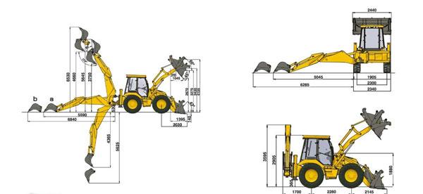 Рабочая диаграмма Hidromek HMK 102 S